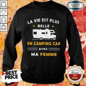 Humour Camping Car Ma Femme Sweatshirt