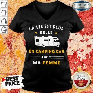Humour Camping Car Ma Femme V-neck