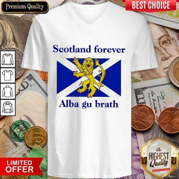 Scotland Forever Alba Gu Brath V-neck