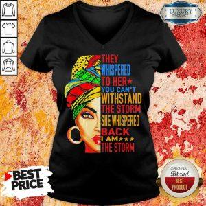 Whispered To Melanin Queen Lover Gift V-neck