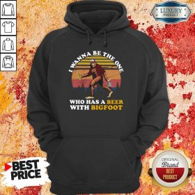 Who Has A Beer With Bigfoot Hoodie