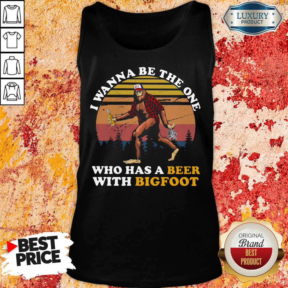 Who Has A Beer With Bigfoot Tank Top